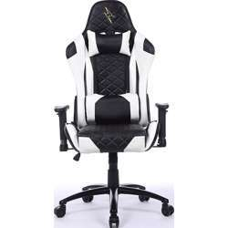 Urban Wave High Back Gaming Chair with 2D Adjustable Arms Lumbar and Headrest Pillows (OC Venice Version) - White