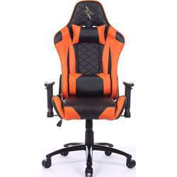 Urban Wave High Back Gaming Chair with 2D Adjustable Arms Lumbar and Headrest Pillows (OC Venice Version) - Orange