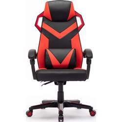Urban Wave Curved High Back Gaming Chair Office Chair Racing Style with Lumbar and Headrest Support (Orlando Model) - Red
