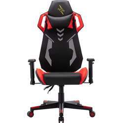 Urban Wave Gaming Computer Chair with Mesh and PU Material + 2D Armrest (OC Vegas Version) - Red