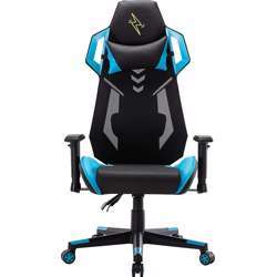 Urban Wave Gaming Computer Chair with Mesh and PU Material + 2D Armrest (OC Vegas Version) - Blue