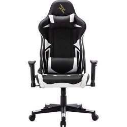 Urban Wave High Back Gaming Computer Office Chair with 2D Arms and Tilt Mechanism (OC Lylon Version) - Black & White