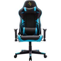 Urban Wave High Back Gaming Computer Office Chair with 2D Arms and Tilt Mechanism (OC Lyon Version) - Black & Blue