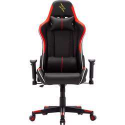 Urban Wave Gaming Chair with Adjustable High Back and 2D Arms (OC Denver Version) - Red