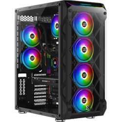 Xigmatek Overtake Super Tower Case , 480Mm Radiator Support, E-Atx M.Board Support (Fans Not Included), 180Mm Cpu Cooler Clearance - Black