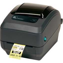 Zebra Gx430T Thermal Transfer Desktop Printer For Labels, Receipts, Barcodes, Tags, And Wrist Bands - Print Width Of 4 In - USB, Serial, And Parallel Port