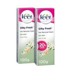 Veet Hair Removal Cream for dry skin 2 sets with a discount of 20% - 100 grams