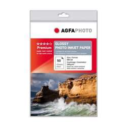 AgfaPhoto Glossy Photo Inkjet Paper - 240gsm, A4, 50 Sheets
