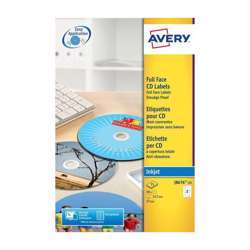 Avery J8676-25 Self-Adhesive CD Label - 2 Labels/Sheet Pack of 25