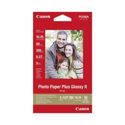 Canon PP-201 Plus Glossy II Photo Paper - 275GSM, 10x15CM, 50 Sheets