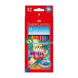 Faber Castell FCI114413 Water Color Pencil, Assorted Pack of 12