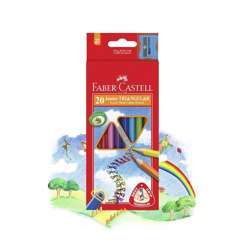 Faber Castell FCI16116538/20 Juniour Triangular Color Pencil, Assorted Pack of 20