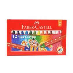 Faber Castell Wax Crayons, Assorted Set of 12