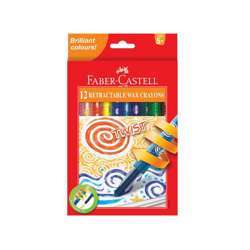 Faber Castell FC120013 Twist Crayons, Assorted Pack of 12
