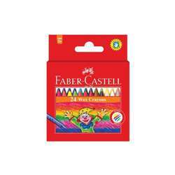 Faber Castell FCIN120053 Slim Wax Crayon - Round, Assorted Pack of 24