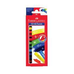 Faber Castell FCIN126012 Oil Pastels - Round, Assorted Pack of 12