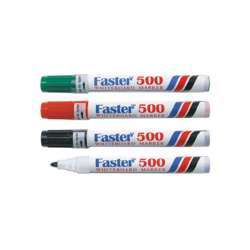 Faster 500 Whiteboard Marker, Assorted Pack of 12