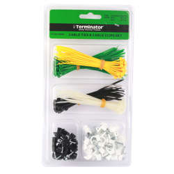 Terminator Cable Tie and Cable Clips Set