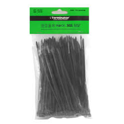 Terminator Terminator Cable Ties In Black Colour (100Pcs In Bag)-2.5X150-BW