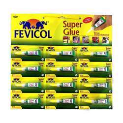 Fevicol Super Glue Instant Adhesive, 3g Pack of 12