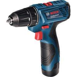 Bosch GSR 120-Li 12V Drill/Driver 2x 1.5Ah, GAL1210CV, Carrying Case
