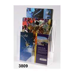 Metro 3809 3-Tier Brochure Holder - A4, Clear