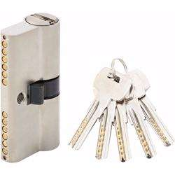 Double Cylinder Door Lock With Dimple/Computer Key 6 Pin Silver 60 mm preview