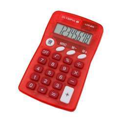 Olympia LCD 825 Pocket Calculator - 8 Digit, Red