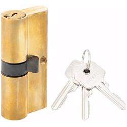 Double Cylinder Lock with Key for Doors 5 Pin Gold 70 mm preview