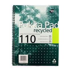 Pukka Pad RCA5/110 Wirebound Notebook - 110 Recycled Pages, A5, Assorted Color