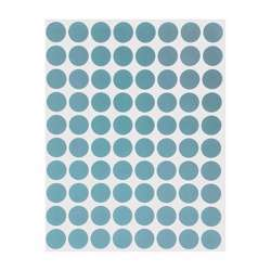 Tanex OFC-131 Office Labels - 19mmD, Blue, 10 Sheets, 350 Labels