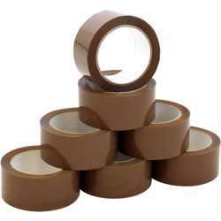 """V Fix Packaging Tape - 2"""" x 50 Yards, Brown Pack of 72"""