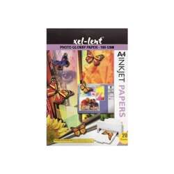 Xel-Lent Photo Glossy Inkjet Paper - 180gsm, A4, 20 Sheets