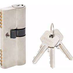 Unequal Double Cylinder Door Lock with Key 5 Pin Silver 30/40 mm preview