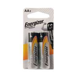 Energizer 2-Piece Max AA Batteries Silver/Black