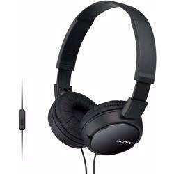 Sony MDRZX110AP On-Ear Stereo Headphones with Mic-Black