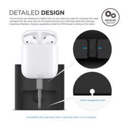 Elago Charging Station for Airpods Case - Black preview
