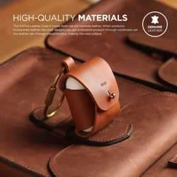 Elago Airpods Genuine Leather Case - Brown preview