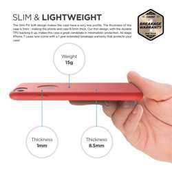 Elago Slim Fit Soft Case for iPhone 8 / 7 - Red preview