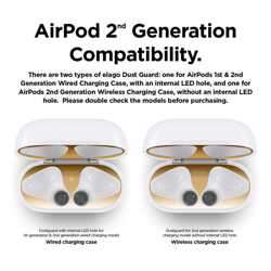 Elago Dust Guard for 2nd Generation Apple Airpods (2 Sets) - Gold preview