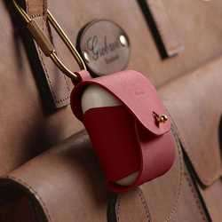 Elago Airpods Genuine Leather Case - Red preview