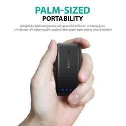 RAVPower 6700mAh Power Bank with iSmart 2.0 Technology - Black preview