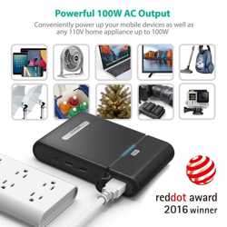 RAVPower 27000mAh Universal Power Bank with Built-in AC Outlet - Black preview