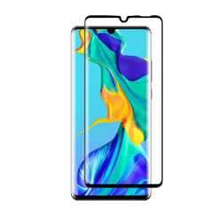 Porodo 3D Curved Tempered Glass Screen Protector 0.25mm for Huawei P30 Pro - Black preview