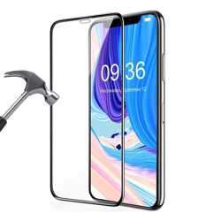 Porodo 3D Full Covered Glass Screen Protector 0.33mm for iPhone Xr - Black preview