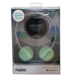 H6020 PRO GR Rapoo H6020 Bluetooth 4.1 Stereo Headset Wireless Headphone with hidden Microphone - 16 Hours Play Time - Green preview