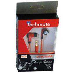 TechMate DT 5078 BK/RD EarPhone with Mic - Black/Red preview