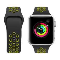 iGuard byPorodo Nike Watch Band for Apple Watch 44mm / 42mm - Black/Yellow Green preview