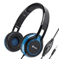 ZM-Sublime Wired Headphone with Mic & extra BASS - Black+Blue preview