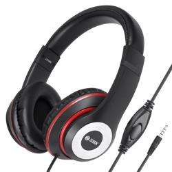 ZM-Thump Wired Headphone with Mic & extra BASS - Black+Red preview